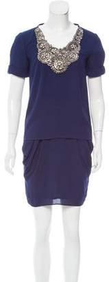 ADAM by Adam Lippes Draped Embellished Skirt Set