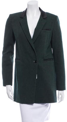 Boy. by Band of Outsiders Wool Leather-Trimmed Coat $120 thestylecure.com