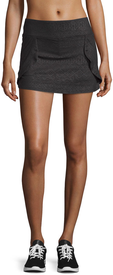 The Balance Collection Dolphin Flat-Waist Skort, Black