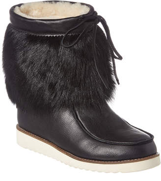 Australia Luxe Collective Yolanda Leather Fur Bootie