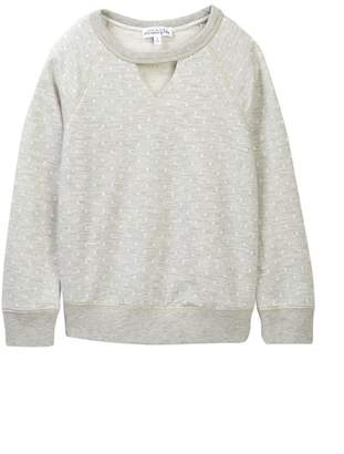 Ten Sixty Sherman Polka Dot Textured Gigi Sweatshirt (Big Girls)