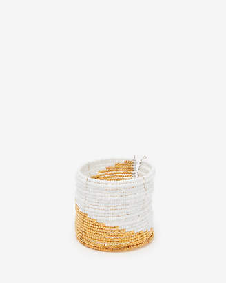 Express Color Block Seed Bead Cuff