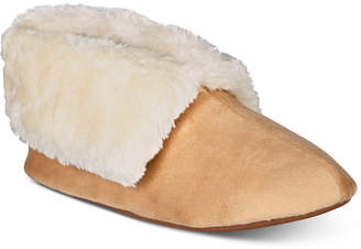 Charter Club Plush Faux-Fur Booties Slippers