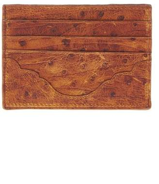 Okapi Card Holder / Chestnut Zebra Ostrich