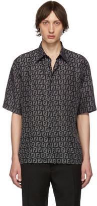 Fendi Black and Grey Forever Silk Shirt