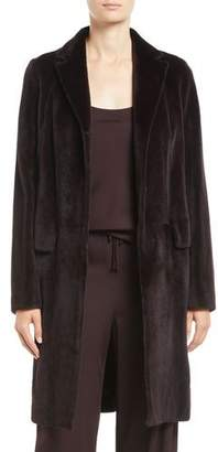 The Row Doman Notched-Lapel Hook-Front Mink Fur Jacket