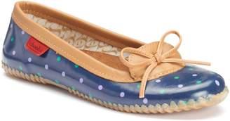 Chooka Classic Dot Skimmer Women's Water-Resistant Rain Flats