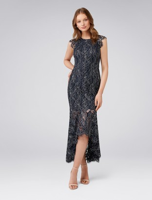 Forever New Francesca Fishtail Lace Maxi Dress - Navy - 4