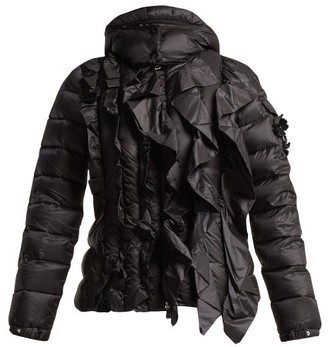 Simone Rocha 4 Moncler Darcy Ruffled Quilted Jacket - Womens - Black