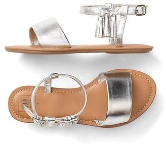 Metallic tassel sandals $29.95 thestylecure.com