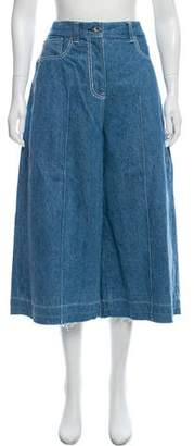 Sacai High-Rise Wide-Leg Jeans