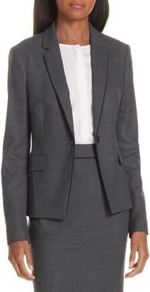 BOSS Jorita Geometric Wool Blend Suit Jacket