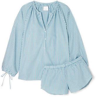 Three J NYC Reese Gingham Cotton-poplin Pajama Set - Light blue