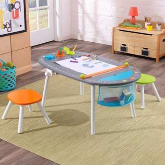 Kid Kraft Kids 3 Piece Oval Table and Chair Set