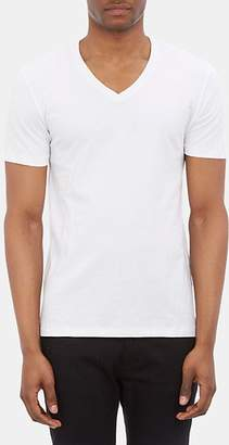 Barneys New York Men's V-neck T-shirt - White