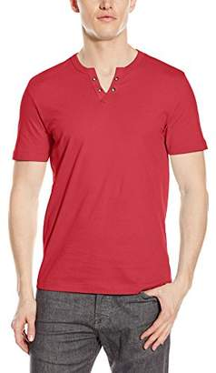 Kenneth Cole Reaction Men's Short Sleeve Eyelet Henley Shirt