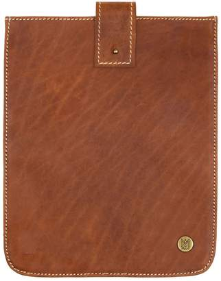 Mahi Leather Leather Stockholm Ipad Tablet Case In Vintage Brown With Cream Stitching