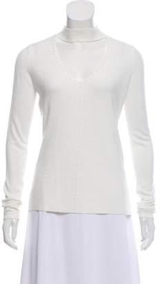 T Tahari Embellished Long Sleeve Top