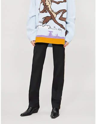 Calvin Klein Side-stripe wool trousers