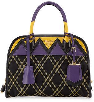 Prada Greca Quilted Nylon Small Shoulder Bag $1,850 thestylecure.com