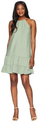 CeCe Sleeveless Halter Neck Ruffled Dress Women's Dress