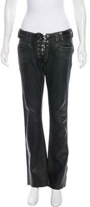 Agatha Low-Rise Wide-Leg Pants