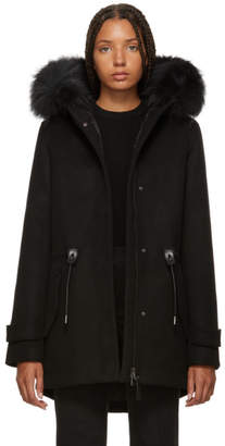 Mackage Black Wool Alexa Down Coat
