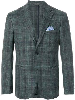 Cantarelli handkerchief plaid fitted jacket
