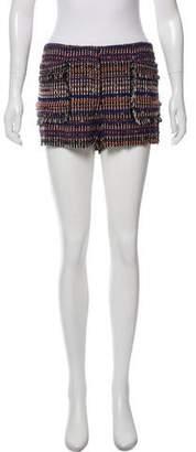Rachel Zoe Tweed Mid-Rise Mini Shorts