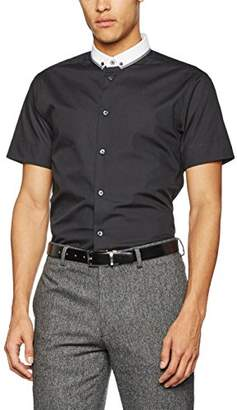 New Look Men's Hopsack Double Collar T-Shirt,(Manufacturer Size:L)