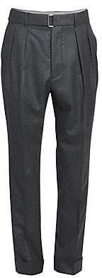 Officine Generale Men's Pierre Pleated Cuffed Dress Pants