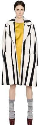 Rochas Striped Blend Wool Coat