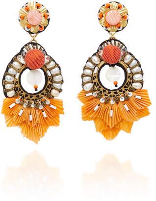 Ranjana Khan Catete Pearl Embellished Earrings
