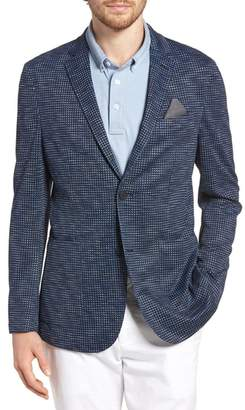 Vince Camuto Houndstooth Performance Mesh Blazer
