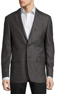 John Varvatos Windowpane Wool Jacket