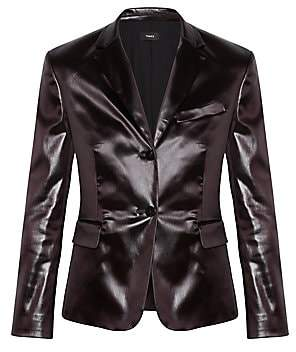 Theory Women's Shrunken Vegan Leather Blazer