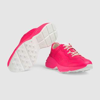 Rhyton fluorescent leather sneaker