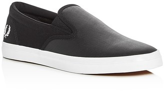 Fred Perry Underspin Perforated Slip On Sneakers $80 thestylecure.com