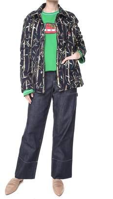 Kenzo Bamboo Leaf Cotton-denim Jacket