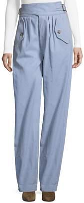 Rosie Assoulin Women's Safari Buckled Cotton Pants