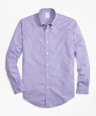 Brooks Brothers Regent Fit Gingham Zephyr Sport Shirt