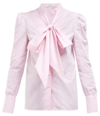 Racil - Agata Neck Tie Cotton Blouse - Womens - Pink