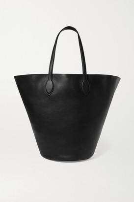 KHAITE Circle Medium Leather Tote - Black