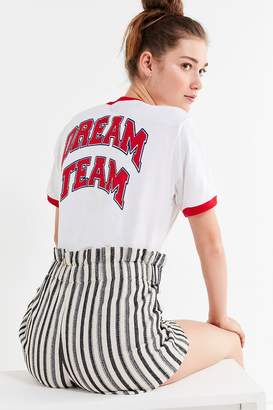 Urban Outfitters Dream Team Cropped Ringer Tee