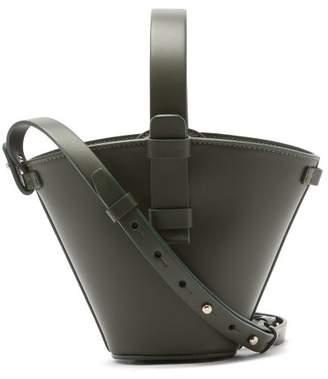 Nico Giani - Nelia Mini Leather Bucket Bag - Womens - Dark Green