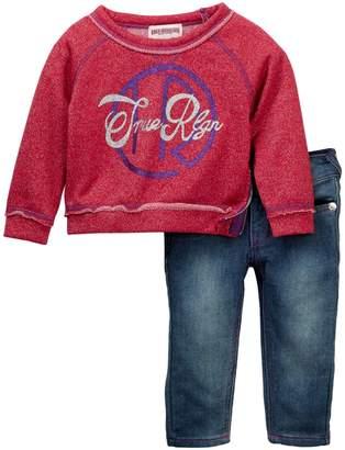 True Religion Glitter Pullover & Jeans Set (Baby Girls)
