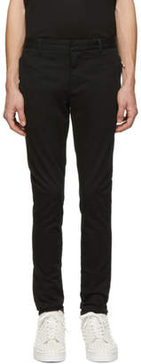 Balmain Black Washed Casual Trousers