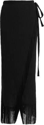 Lisa Marie Fernandez Seersucker Fringe Trim Skirt