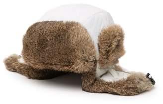 Surell Genuine Rabbit Fur Quilted Trooper Hat
