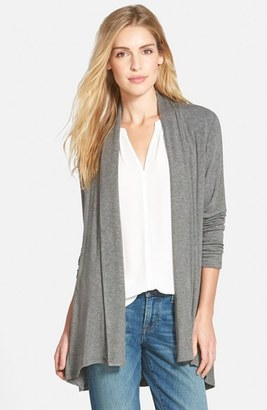 Women's Bobeau High/low Jersey Cardigan $58 thestylecure.com